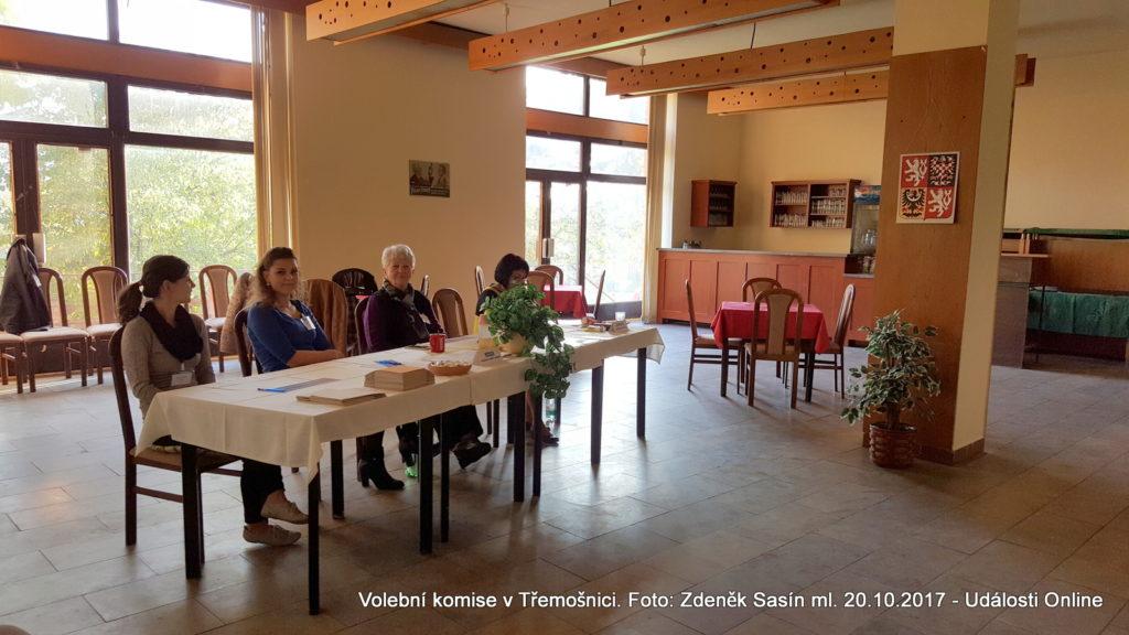 Volební komise v Třemošnici.