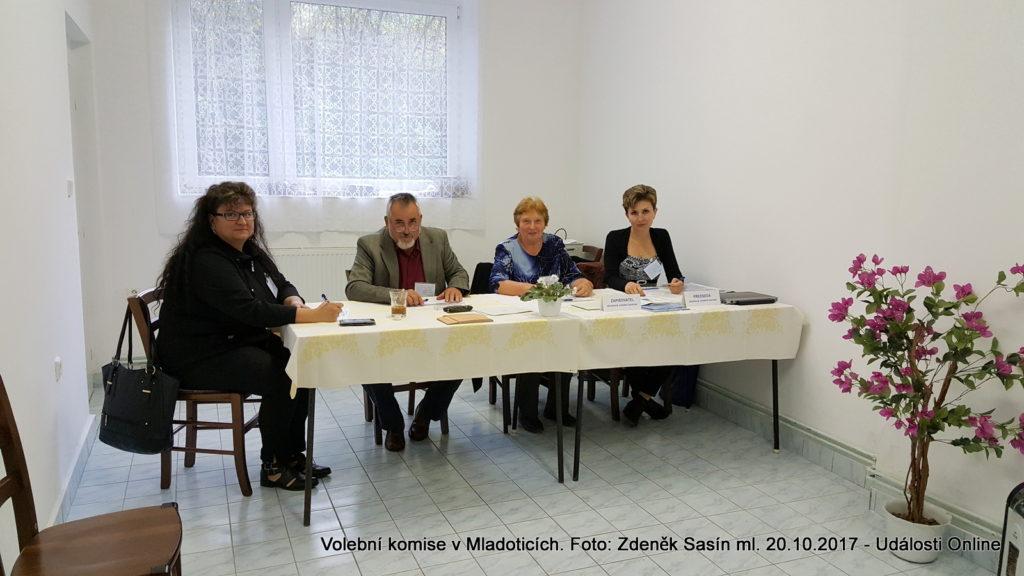 Volební komise v Mladoticích.
