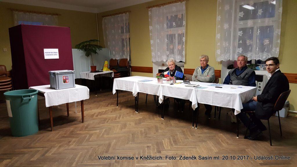 Volební komise v Kněžicích.